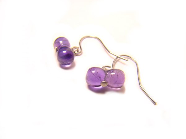 EAVXRS0600X Amethyst  8-Shape  5x10mm Earrings