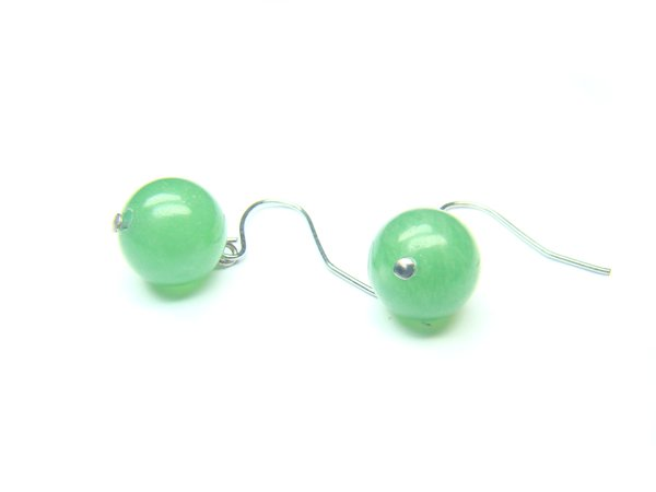 EAVXRS0600C Aventurine Round Shape 10mm Earrings