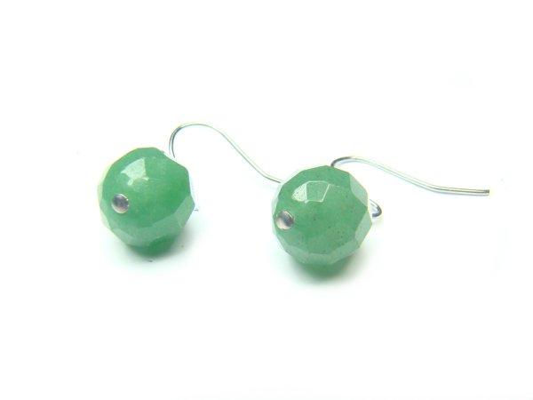 EAVDRS0600X Aventurine Round Shape 10mm Cut Earrings