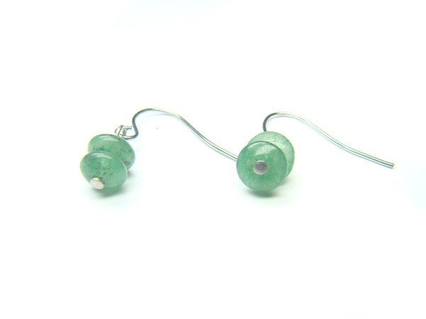EAVXDO0408X Aventurine Donut Shape 3x6mm Earrings