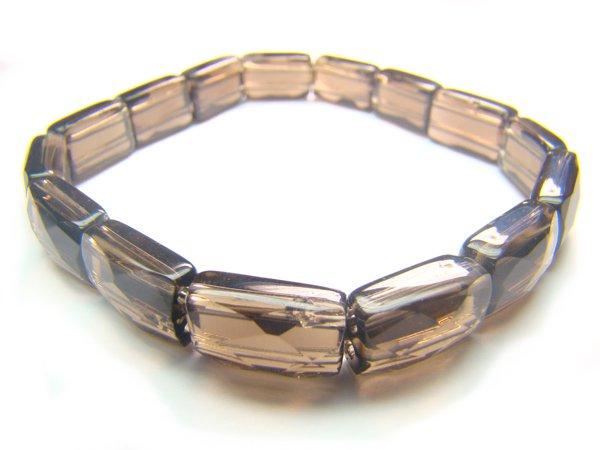 BSFXRS0600X Smoky Quartz Rectangular Shape 8x12mm Cut Bracelet