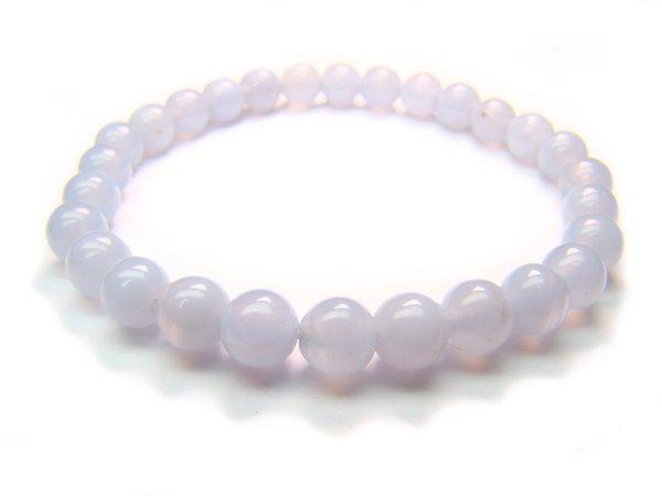 BBLXRS0800X Blue Lace Agate Round Shape 6mm  Bracelet