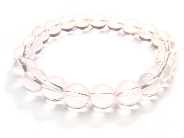 BRCXRS1000X Clear Quartz Round Shape 8mm  Bracelet
