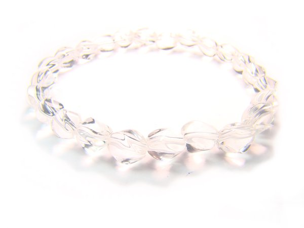 BRCXSS0709X Clear Quartz S Shape 5x7mm  Bracelet