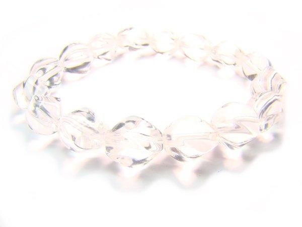 BRCXSS0812C Clear Quartz S Shape 8x11mm  Bracelet