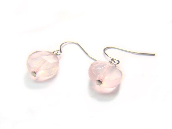ERQXFL1000X Rose Quartz Spere Shape 10mm  Earrings