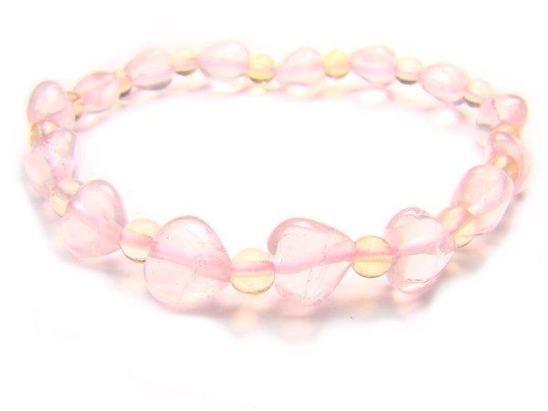 BA9845 Rose Quartz Citrine Clear Quartz Bracelet 1