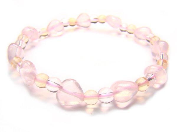 BA9849 Rose Quartz Citrine Clear Quartz Bracelet 3