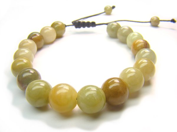 BB0007C Chinese Jade Round Shape 8mm Bracelet