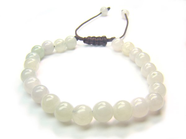BB0009C Chinese Jade Round Shape 6mm Bracelet