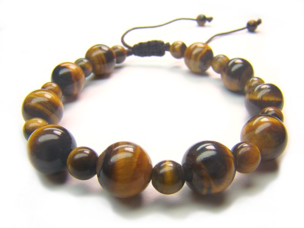 BB0075C Tiger Eye Mix Shape  Bracelet