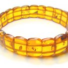 BA9241 Amber Rectangular Shape 20x14mm Bracelet