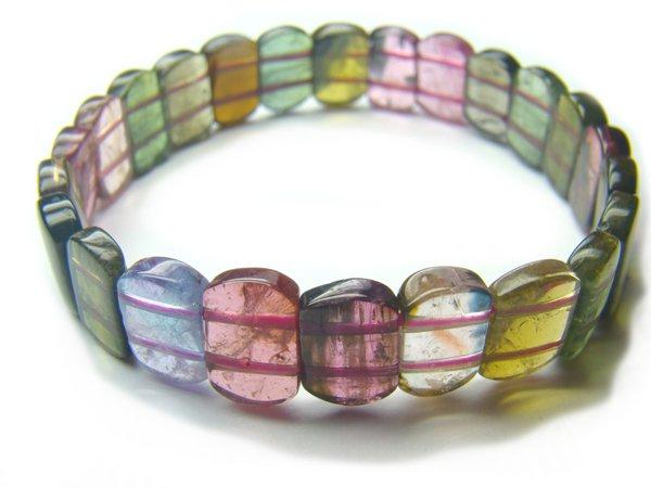 BA6833 Tourmaline Rectangular Shape  Bracelet