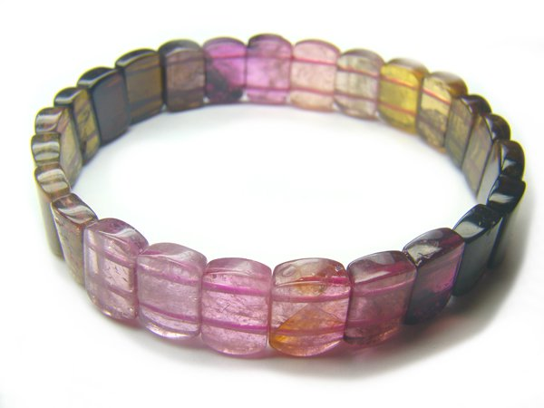 BA6848 Tourmaline Rectangular Shape  Bracelet