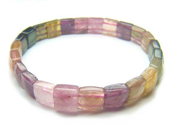 BA9912 Tourmaline Square Shape  Bracelet