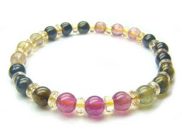 BA6357 Tourmaline Mix Shape  Bracelet