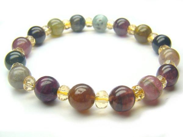 BA9907 Tourmaline Mix Shape  Bracelet