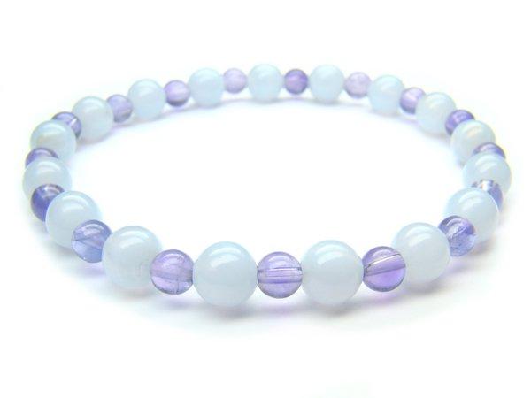 BB84 Blue Lace Agate Amethyst Bracelet 2