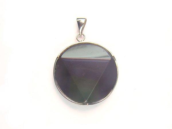 PA1596 Obsidian Star of David 28mm Pendant