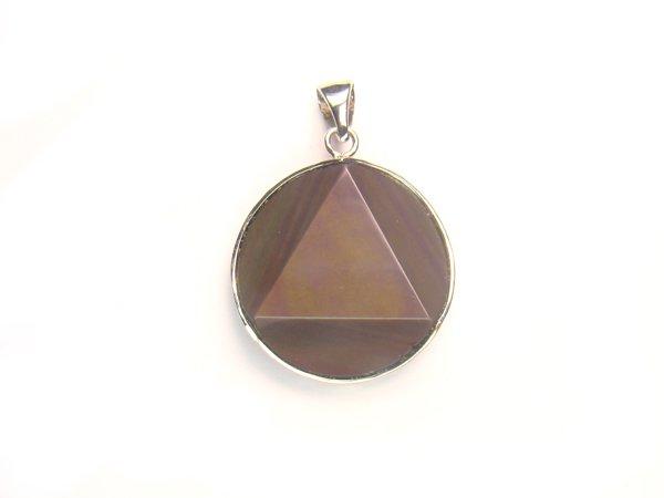 PA0364 Obsidian Star of David 25mm Pendant