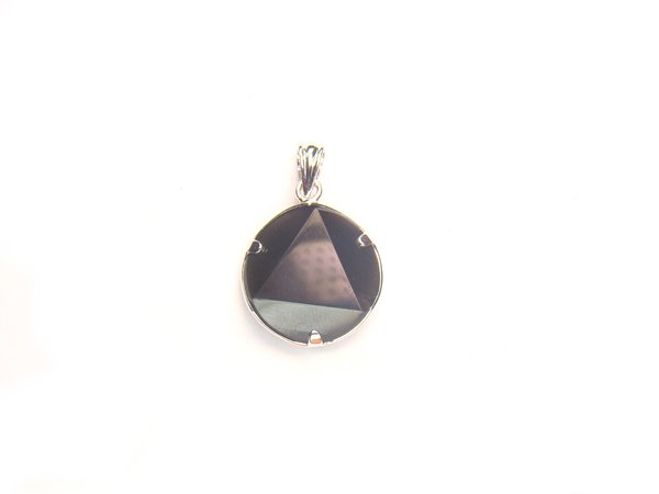 Pa1489 Obsidian Star of David 15mm Pendant