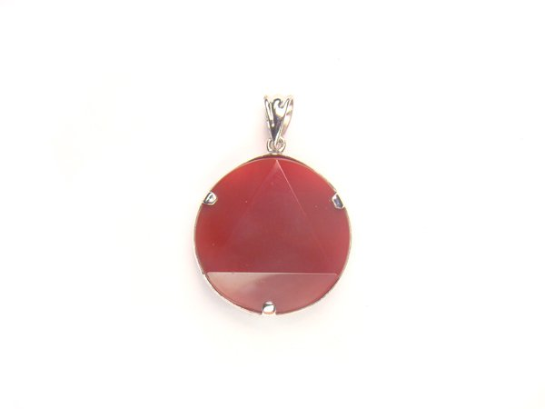 PA1153 Agate Star of David 20mm Pendant