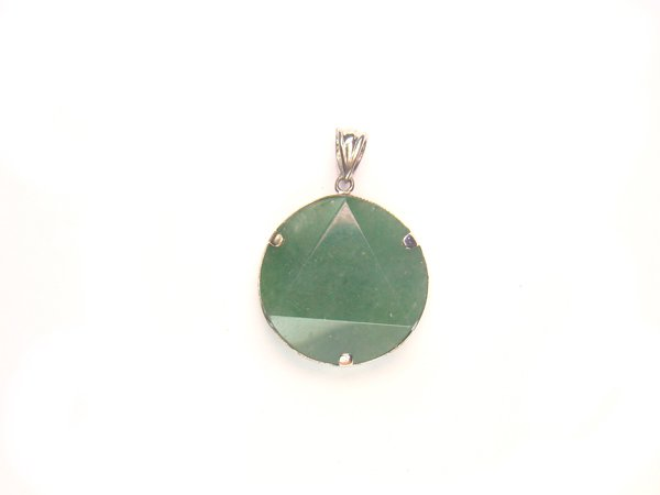 PA1146 Aventurine Star of David 20mm Pendant