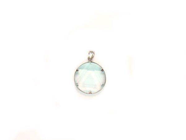 PA0236 Blue Obsidian Star of David 15mm Pendant