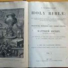Matthew Henry&#39;s Commentary on the Bible 6 volumes antique bible 1800&#39;s