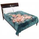 Brookwood Home Green Floral Blanket