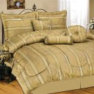 Wyndham House™ 7pc Jacquard King Size Comforter Set