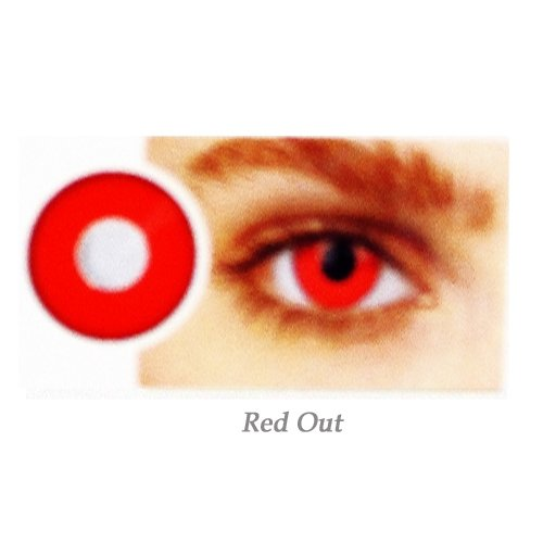 EYE CONTACT LENS RED-OUT