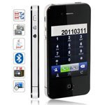 i68 4G+++ Quad Band Dual Cards Java FM MP3 Touch Screen Cell Phone(Black)