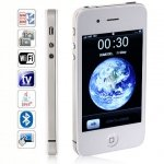 J20 Quad Band Dual Cards with Wifi Analog TV Java Tempered Glass Touch Screen Cell Phone(White)