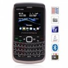 E5 Quad Band Quad Cards with Analog TV Java QWERTY Keyboard Cell Phone (Black)