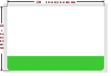 25 Green Strip Utility Stickers