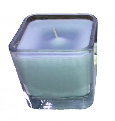 Wild Flowers Scent Candle in rounded edge Glass