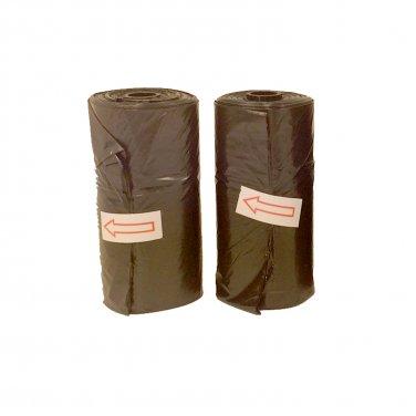2 Black Doggie Waste Bag Rolls