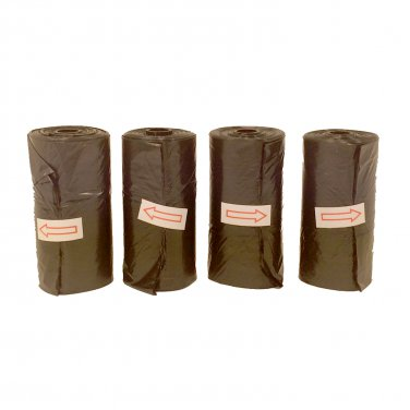4 Black Doggie Waste Bag Rolls