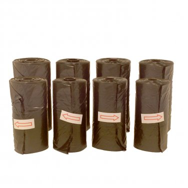 8 Black Doggie Waste Bags
