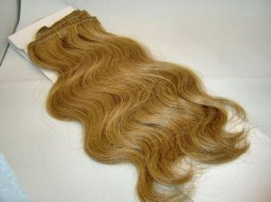 "100% Remy human hair clip on (Body Wave 18"", #14)"