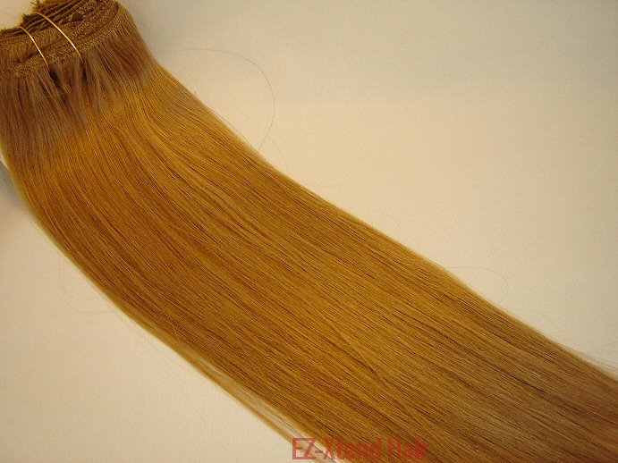 "100% Remy human hair clip on (Yaki straight(18"" #14)"