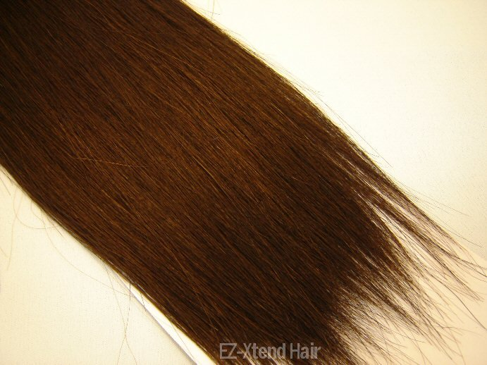 "100% Remy human hair clip on (Yaki straight(18"" #1b)"