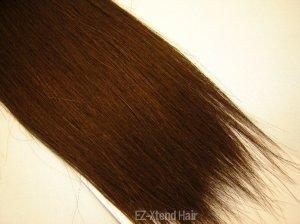"100% Remy human hair clip on (Yaki straight(18"" #1b)"