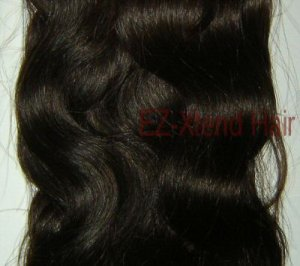 "100% Remy human hair clip on (Body Wave 18"", #1b)"