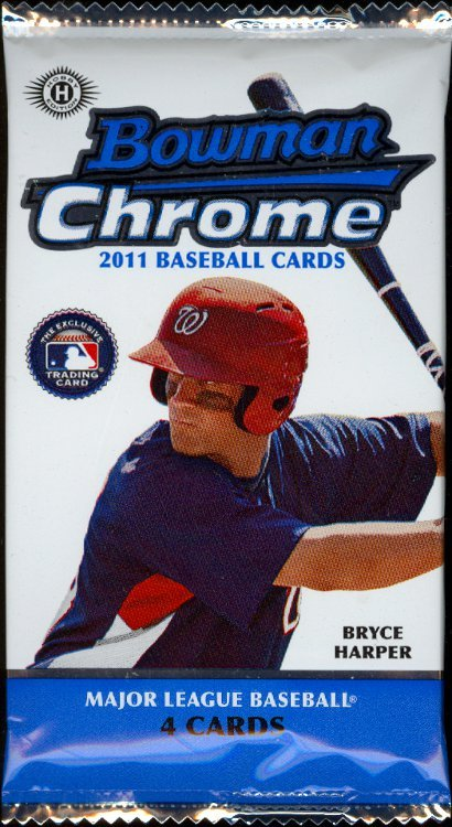 2011 Bowman Chrome SEALED BASEBALL PACK From new box Possible Bryce Harper Rc Auto ? HOBBY PACK