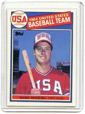 1985 Topps #401 Mark McGwire ROOKIE CARD Rc NM/MT Usa Team / Oakland Athletics FUTURE HOF