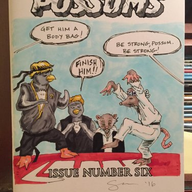 Penguins vs. Possums #6: 'The Karate Kid' Sketch Cover