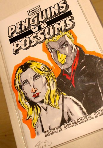Penguins vs. Possums #6: Buffy and Spike Sketch Cover