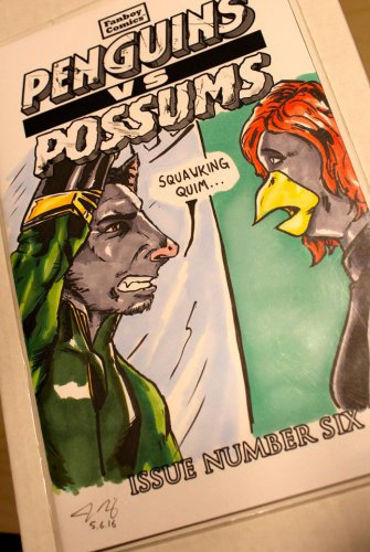 Penguins vs. Possums #6: Loki and Black Widow Sketch Cover